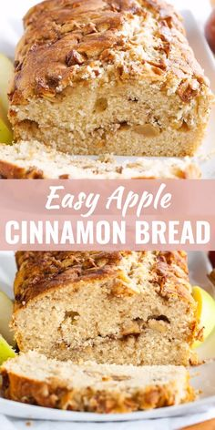 Kuchen Videos Apple Cinnamon Bread is quick and easy to make from scratch and makes your house smell amazing! Swirled with delicious spiced apples and topped with cinnamon sugar, this quick bread recipe is sure to be a fall favorite.