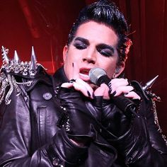 ADAM LAMBERT with SPIKES. Not very non now is it?