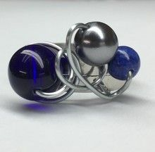 Isabelle Lehoux Montréal - Bague Design bleu royal Design Bleu, Bleu Royal, Isabelle, Cufflinks, Budget, Stainless Steel, Ring, Accessories, Wedding Cufflinks