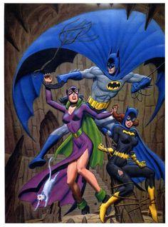 Catwoman, Batman, Batgirl - Fastner & Larson.