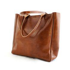 Leather Heirloom Carryall Cognac