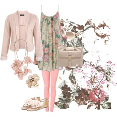 great outfit for spring Love pink!