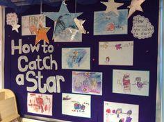 Oliver jeffers how to catch a star. Art Activities For Toddlers, Eyfs Activities, Space Activities, Classroom Displays, Preschool Classroom, Book Corner Eyfs, Space Preschool, Oliver Jeffers, Block Area