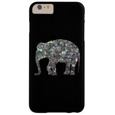 Sparkly silver mosaic Elephant iPhone 6 Plus Barely There iPhone 6 Plus Case