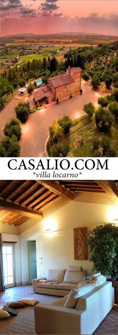 www.casalio.com || Villa Locarno || Luxury Villa situated among olive trees of an ancient farm, on a hill dominating the entire valley. Serene location in the Province of #Pisa. #LuxuryTravel #LuxuryVillas #Luxury #Villas #Hotels #Casalio #Italy #Travel (Pinned by #Casalio - www.casalio.com) Our travel blog www.casaliotravel.com