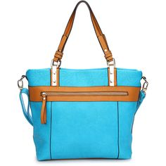 Amore Blue Mila Tote ($30) ❤ liked on Polyvore