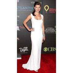 Heather Tom White Sexy Prom Dress 38th Annual Daytime Emmy Awards Red Carpet