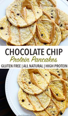 Healthy Gluten Free Chocolate Chip Protein Pancakes