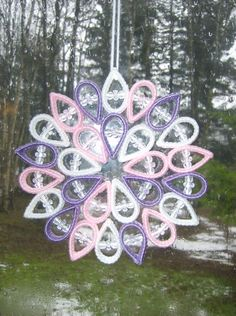 "HANDCRAFTED ""MEDIUM SUNCATCHERS"" IN PLASTIC CANVAS ""B"""