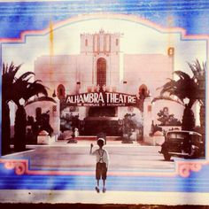 RK - A mural of the Alhambra Theater in Sacramento. They tore this beautiful old theater down and built a Safeway store in its place. How very wrong