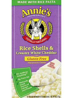 Best Brands for Kids With Food Sensitivities: Annie's Homegrown Rice Pastas (Gluten Free) (via Parents.com)