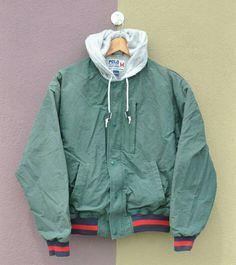 864e75f387d71 CHRISTMAS SALES 15% OFF Super Rare !! Vintage 1991 Polo Ralph Lauren  Spellout Hip Hop Rap 90 s Polo P92 P wing Ski Snow Beach Hoodie Jacket