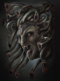 Cabeça da Medusa. -- Arte por Ygit Koroglu