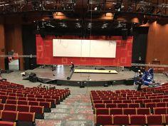 En proceso de montaje en el Marriot Hotel Auditorium de Madrid Madrid, Basketball Court, Events
