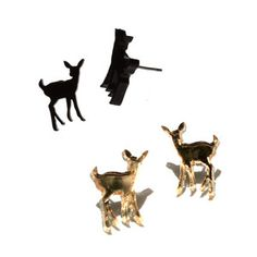 Deer Studs Gold Black Set, $24, now featured on Fab.  The exception to the Grand-Lake-isn't-a-fashion-show rule?