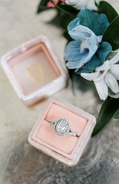 Soft Pink and Blue Southern Wedding - Inspired By This