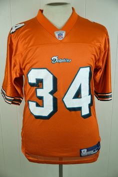 4ada54857 Reebok Miami Dolphins Ricky Williams  34 NFL Football Jersey Adult Small  Orange  Reebok  MiamiDolphins