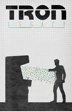 TRON Legacy by Travis English  http://minimalmovieposters.tumblr.com/post/20787996678/tron-legacy-by-travis-english