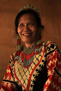 Philippines ~ South Catabato | A T'boli woman in intricately designed traditional dress | ©Edgar Alan Zeta-Yap