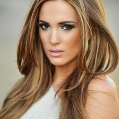 auburn brown hair with blonde highlights