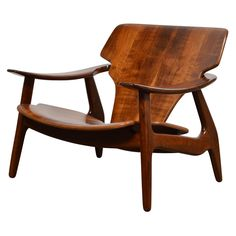"""""""Diz"""" Chair by Sergio Rodrigues - made in imbuia wood with a hand-applied oil finish. Designed for Lin Brasil, 2002"""