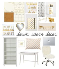 """My Dorm Room!"" by rachellynn-couture ❤ liked on Polyvore featuring interior, interiors, interior design, home, home decor, interior decorating, Wall Pops!, Kate Spade, PBteen and Threshold"