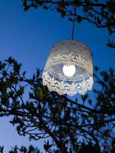 Great battery powered lace lamps from cox and cox... .. Can hang from the apple trees