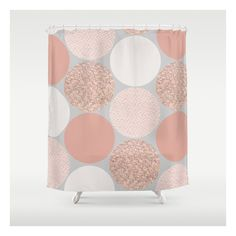 gold and silver shower curtain. rose gold dots shower curtain ($68) ❤ liked on polyvore featuring home, bed and silver