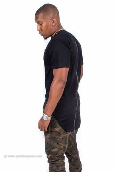 www.Nerdboywear.com #Fashion #mens #guys #black #zipperback #Extendedtee #extendedshirt