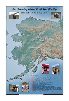 Fulfilling a lifelong dream, this couple finally took that Alaska Road Trip they'd been dreaming about. They saw the splendor of the wild Alaskan on an adventure they'll never forget. Travel Tours, Travel Maps, Anniversary Present, Custom Map, Travel Memories, Tour Guide, Passport, Alaska, Wedding Gifts