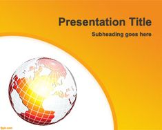 Free Climate Change PowerPoint Template presentation