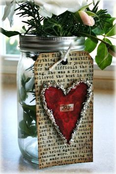 cute idea with Mason Jar