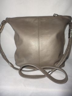 Pre-Owned Silver Leather shoulder Bag*****. by RamsesTreasure on Etsy