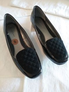 5f7ba8c280b5 Bandolino Black w Velvet Dress Flats Women s Shoes Size 8 M  fashion   clothing
