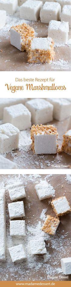 Das ultimative Rezept Selbstgemachte vegane Marshmallows ohne Gelatine im Krokantmantel