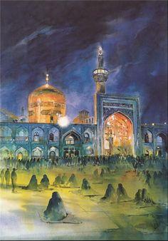 Medina Saudi Arabia, Karbala Photography, Islamic Posters, Cute Love Couple, Islamic Wallpaper, Islamic Images, Islamic Art Calligraphy, Religious Art, Imam Reza