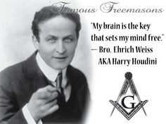 Image Detail for - Famous Freemasons: Bro. Ehrich Weiss, AKA Harry Houdini :Mystical ...