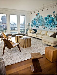 contemporary wall mural - Google Search