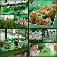 Spencer's 3rd birthday party, Frog and Turtle theme.