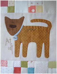 Some Kind of Wonderful Hatch Patch, Annie Downs, Aplique Quilts, Felt Patterns, Book Quilt, Pin Cushions, Cat Art, Baby Quilts, Textile Art