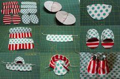 Cloth Baby Shoe Tutorial | My Cloth Baby Shoe Tutorial!