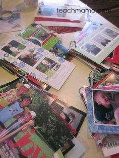 what to do with holiday cards | teachmama.com --> FOR REAL I love this. because what DO you do with holiday cards after the holiday??