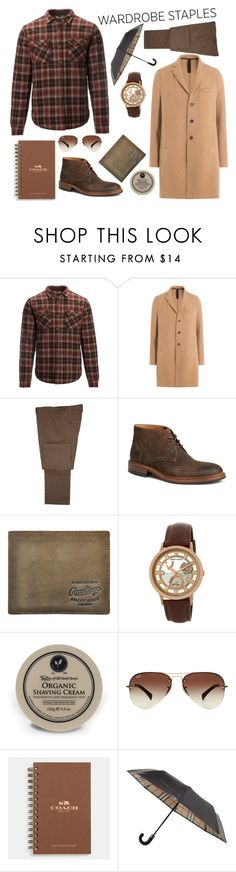 """""""Playd"""" by ragelove ❤ liked on Polyvore featuring Roark Revival, Harris Wharf London, Trask, Rawlings, Emporio Armani, Taylor of Old Bond Street, Ray-Ban, Coach, Burberry and men's fashion"""
