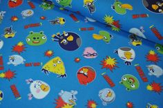 Jersey Angry Birds türkis von Krümel-Design auf DaWanda.com
