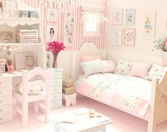 "Bedroom Doll Diorama ""Bunnie's Burrow"" Blythe/Pullip/Pukifee/Lati/Yosd/BJD/Dal"