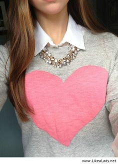 Sweater, button up and necklace