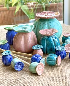 By Rachael Johns Designs Glazes For Pottery, Ceramic Pottery, Ceramic Art, Garden Labels, Diy Projects For Beginners, Diy Chicken Coop, Pottery Designs, Modern Ceramics, Ceramic Flowers