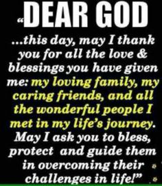 Bless all my family and  friends lord. You no who they are..