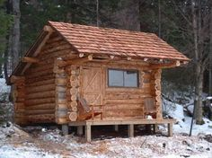 Small Hewed Log Cabin Plans Small Log Cabin Plans, build your own small house Tiny Log Cabins, Tiny House Cabin, Log Cabin Homes, Cabins And Cottages, Small Cabins, Small Cottages, Mountain Cabins, Rustic Cabins, Small Cabin Plans