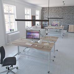 Zetby skrivebord, hæve sænkebord, lækkert skrivebord. Rumas skrivebord, Akasie lamin.